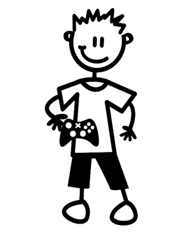 ילד עם ג'ויסטיק B2
