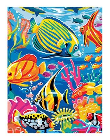מספר וצבע – דגים