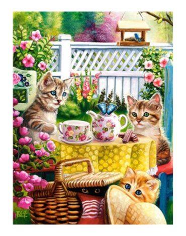 מספר וצבע – חתולים בשעת תה