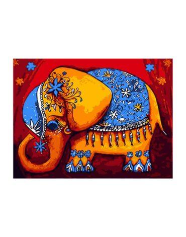 מספר וצבע – פיל הודי