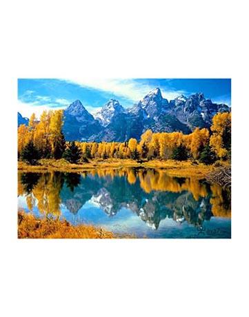 מספר וצבע – השתקפות הרים