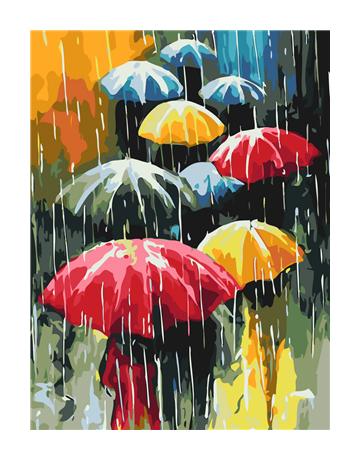 מספר וצבע – מטריות בגשם