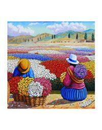 מספר וצבע – נשים בשדה פרחים
