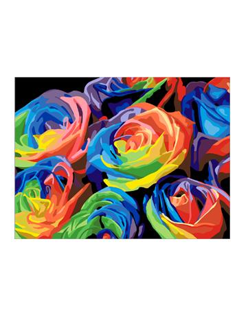 מספר וצבע – פרחים צבעונים