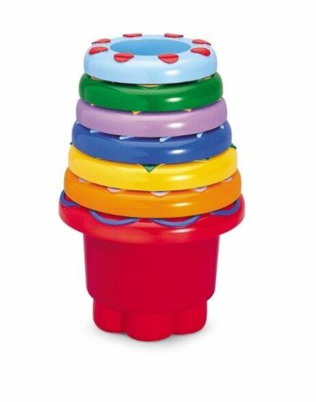כוסות צבעוניות טולו ספרים משחקים תינוקות
